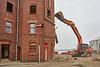Demolition of Ferguson's Shipyard Office in Port Glasgow - 17 March 2016
