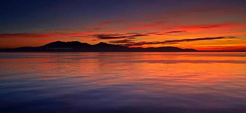 Arran Sunset from Portencross - 29 September 2015