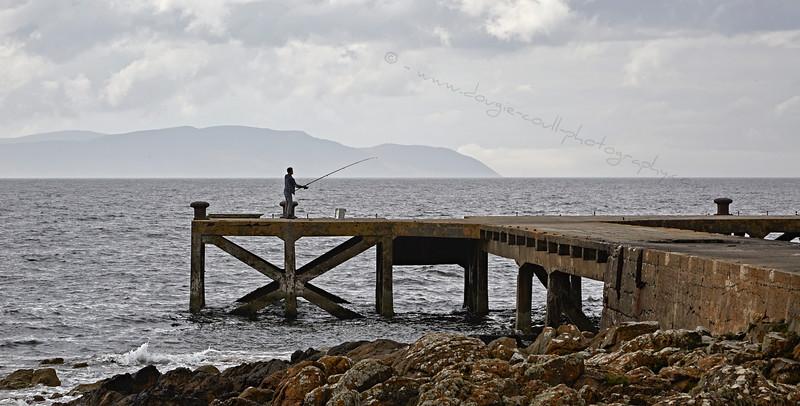 Lone Angler at Portencross - 21 August 2015