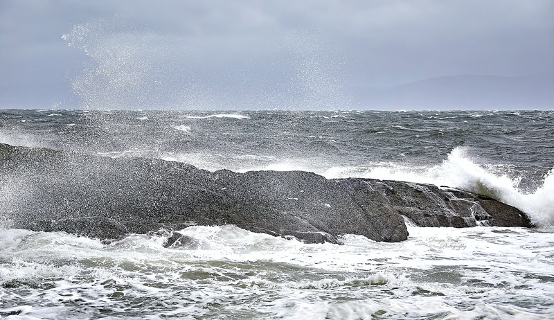 Stormy Weather at Portencross - 8 February 2020