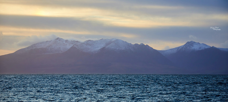 Isle of Arran from Portencross - 18 January 2020