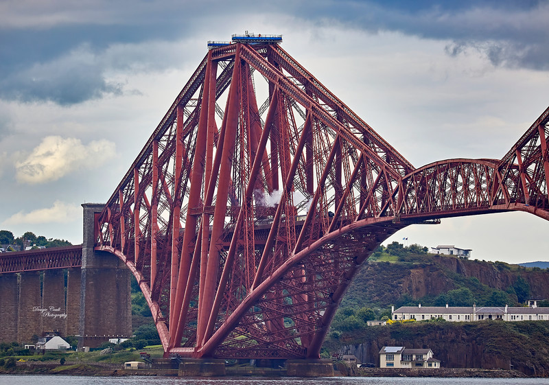 Steaming over the Forth Rail Bridge at South Queensferry - 5 July 2015
