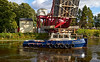 'Beaver Bay' Assists with the Barge Move - Inchinnan Bascule Bridge - 10 September 2013