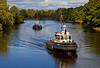 'Biter' and 'Beaver Bay' Enroute to Collect Barge - Inchinnan Bascule Bridge - 10 September 2013