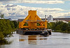Barge Moving the Transition Piece for the Samsung 7 MW Offshore Wind Turbine - 10 September 2013