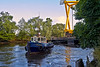 'Beaver Bay' Assists the Move Under the Inchinnan Bascule Bridge - 31 August 2013