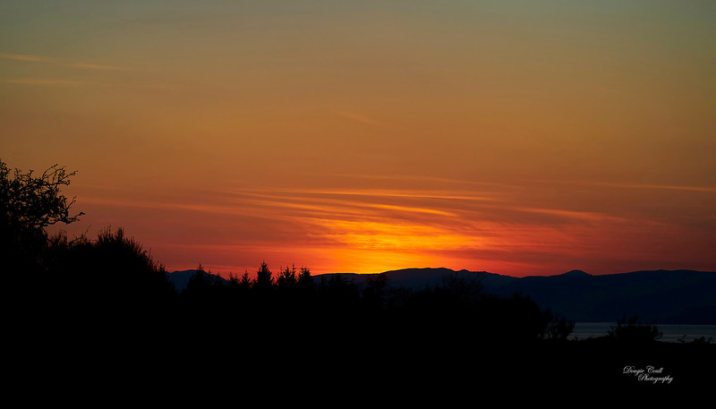 Sunset from Langbank - 15 April 2021