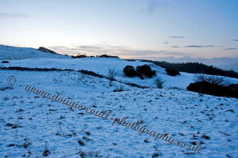 Twilight Snow Scene