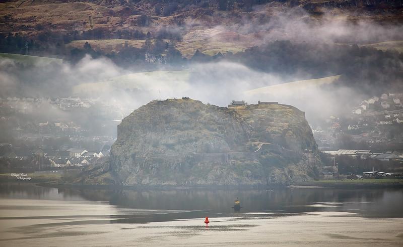 Dumbarton Rock from Langbank - 19 January 2021
