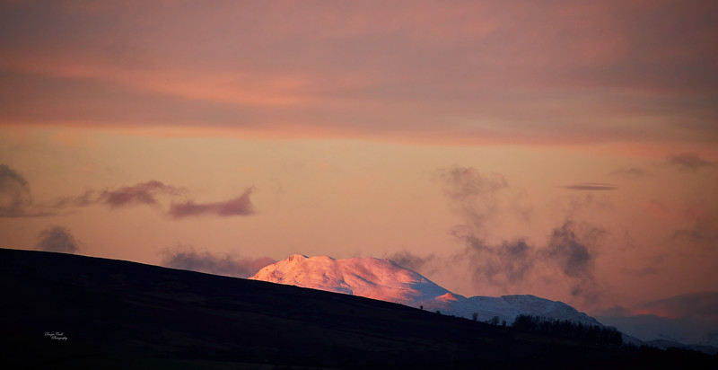 Ben Lomond Sunset from Langbank - 20 January 2021