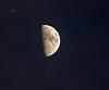 Moon from Langbank - 21 January 2021