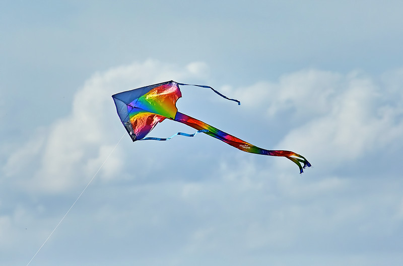 Kite Flying during Lockdown at Langbank - 7 April 2020