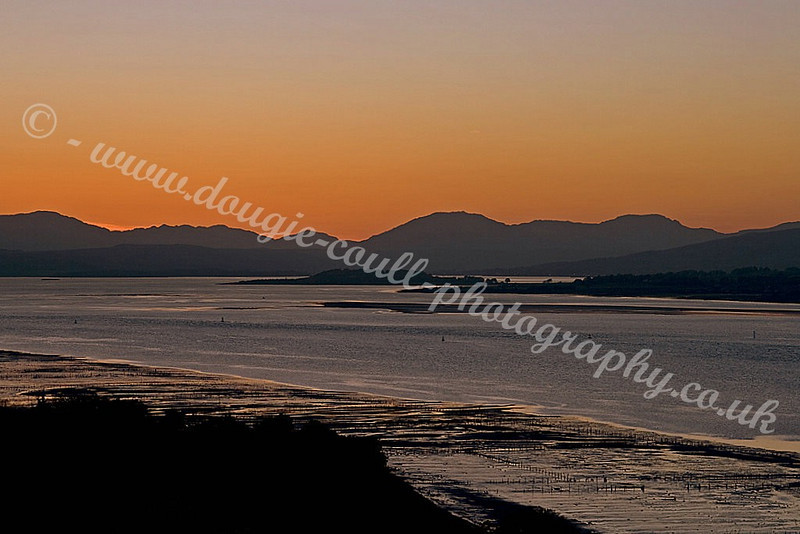 Cowal Hills Sunset & River Clyde