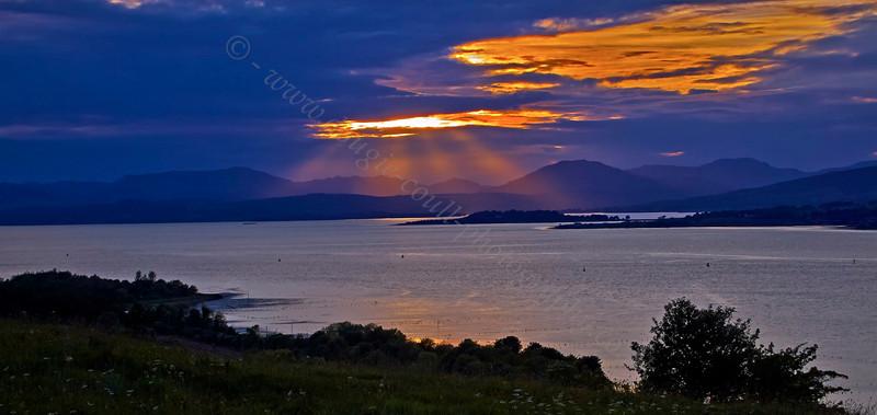 Sunset - Langbank - 2 June 2013