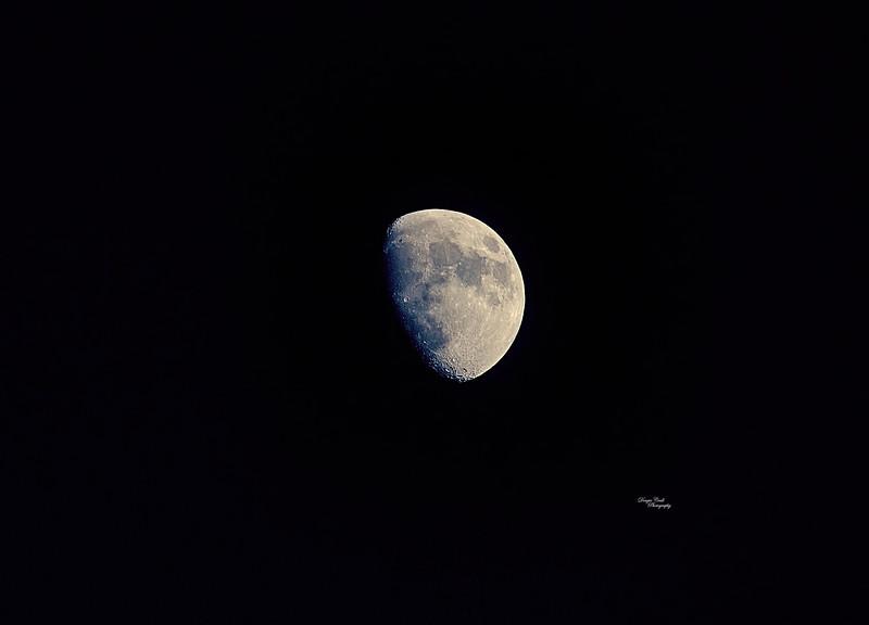 Moon from Langbank - 23 January 2021