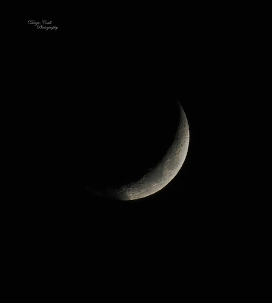 Moon from Langbank - 17 March 2021
