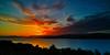 Setting Sun from Langbank - 26 June 2015