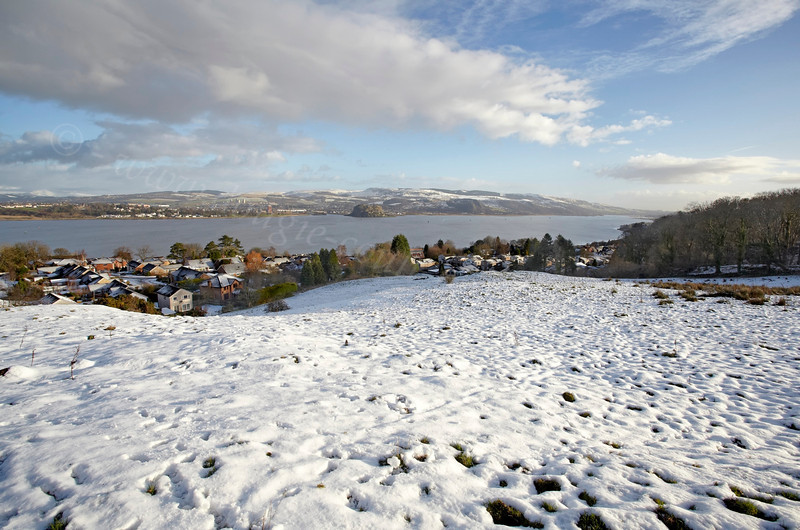 View Over the Clyde from Langbank - 26 January 2013