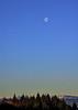 Moon from Langbank - 1 January 2021