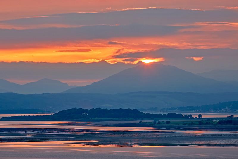 Sunset from Langbank - 3 June 2018