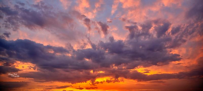 Sunset from Langbank - 19 April 2019