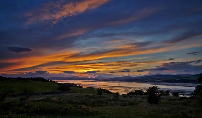 Sunset - Langbank - 26 July 2013