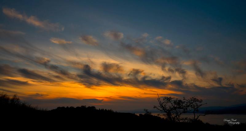 Sunset from Langbank - 17 April 2021