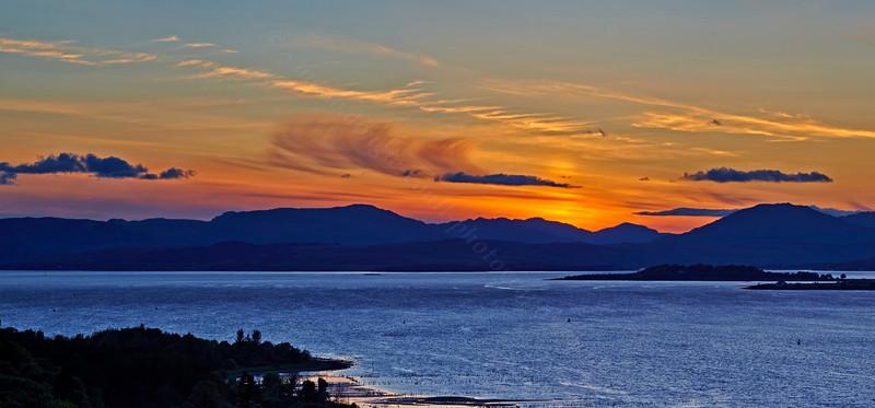 Langbank Sunset - 13 May 2014