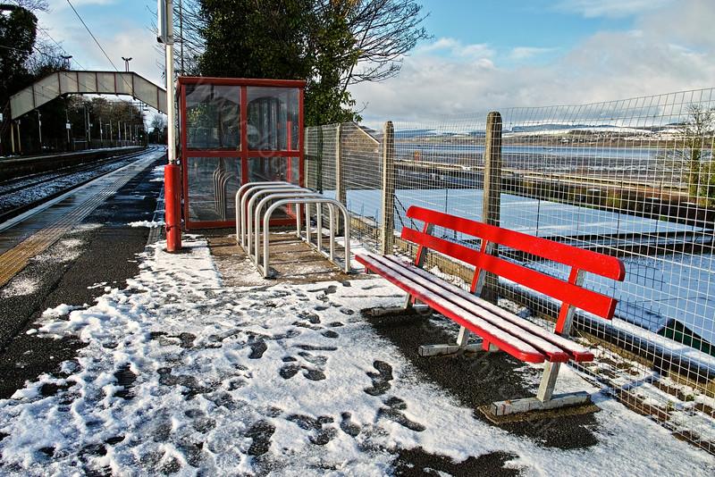 Snowy Station at Langbank - 29 January 2015
