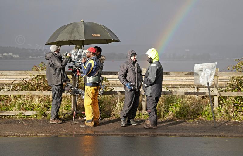 Filming 'Waterloo Road' - Langbank - 17 September 2012