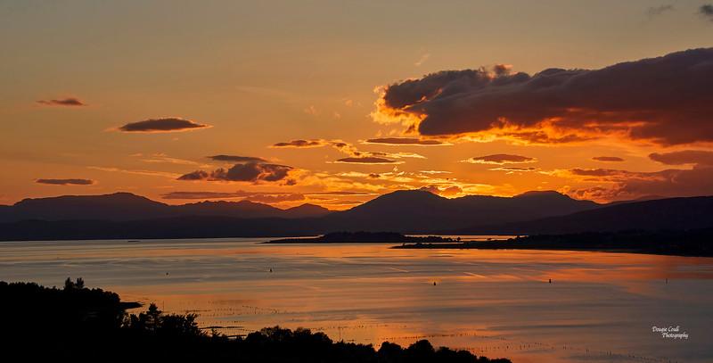 Sunset from Langbank - 3 June 2021