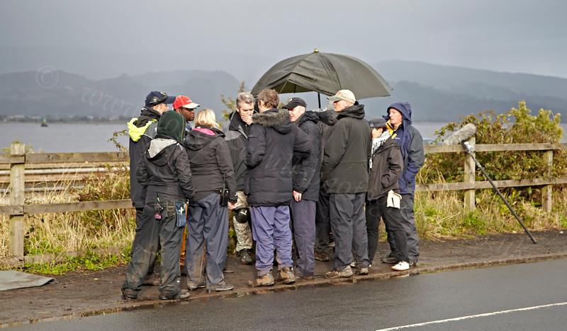 Debrief During Filming 'Waterloo Road' in Langbank - 17 September 2012