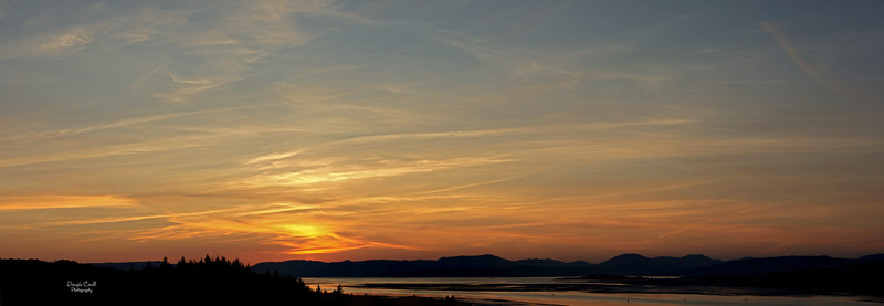 Sunset from Langbank - 24 August 2021