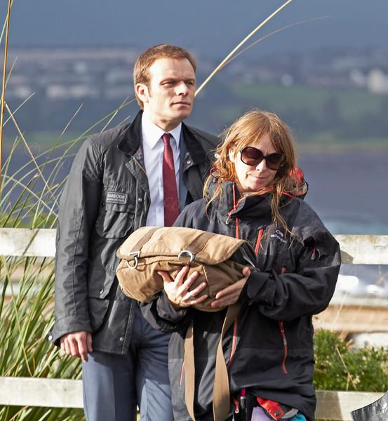 Alec Newman Filming 'Waterloo Road' - Langbank - 17 September 2012