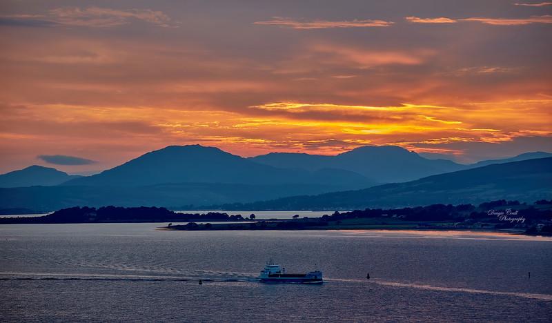 Sunset from Langbank - 16 June 2020