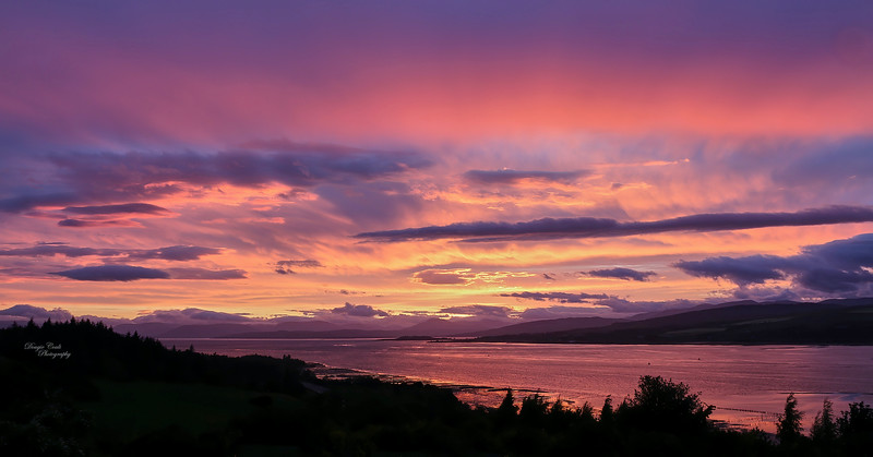 Sunset from Langbank - 6 June 2020
