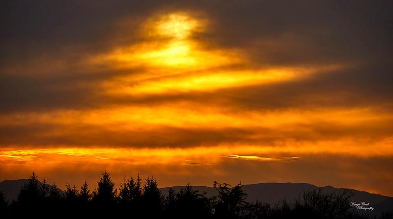 Sunset from Langbank - 23 April 2021