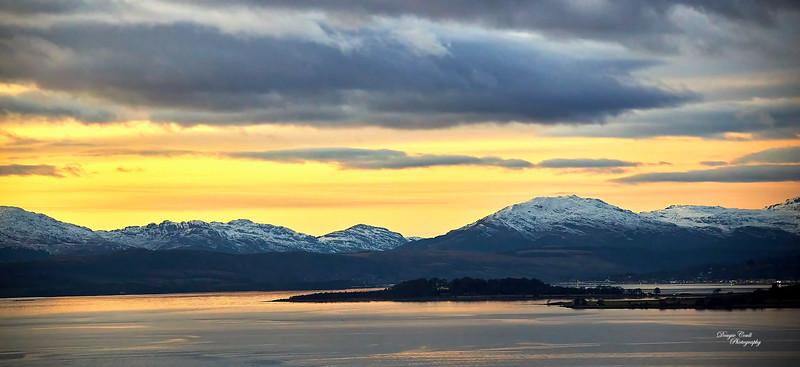 Sunset at Langbank - 5 January 2021