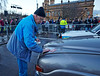 John Applies the Logo Before the Start of the Monte Carlo Classic Car Rally at Paisley Abbey - 23 January 2014