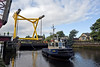 'Biter' Assists the Barge and Load Pass Under the Inchinnan Bascule Bridge - 31 August 2013