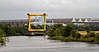 Barge and Load Approach the Inchinnan Bascule Bridge - 31 August 2013