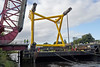 Barge and Load Pass Under the Inchinnan Bascule Bridge - 31 August 2013