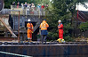 Nervous Moments as Barge Inches Past the Inchinnan Bascule Bridge - 31 August 2013