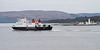 MV Bute Passing Toward Lighthouse - River Clyde - 13 March 2012