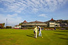 Putting at the Winter Gardens in the September Sun at Rothesay - 28 September 2013