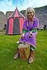 Carol Hard at Work at Rothesay Castle - 28 September 2013