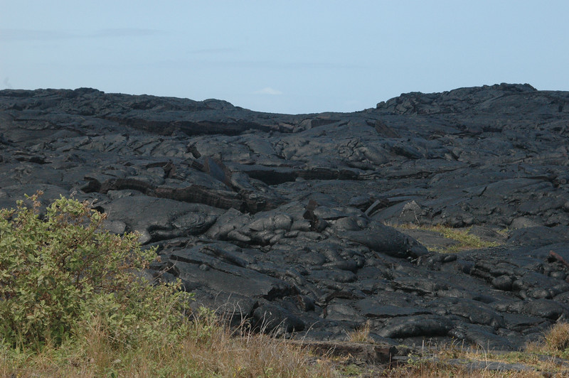 The lava flow at the end of the Chain of Craters Road