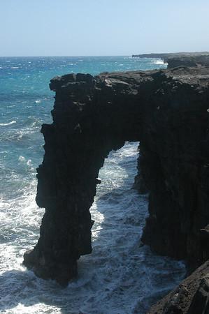 A sea arch.