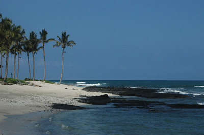 A view of the beach at the Four Seasons Haulalai