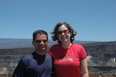 Neil and Sherri at the top of Kilauea.